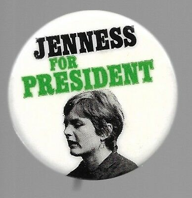 Linda Jenness For President Socialist Workers Party 1972 Political Pin