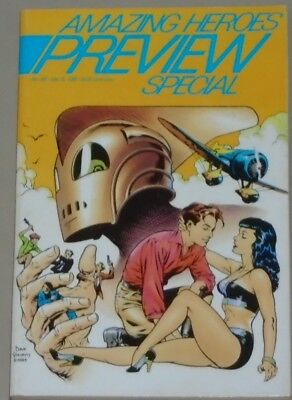 Amazing Heroes 145 special 1988 classic Dave Stevens Rocketeer cover TPB-sized