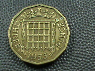 GREAT  BRITAIN      3  Pence    1953    $ 2.99  maximum  shipping  in  USA