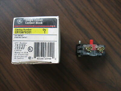 New Surplus GE CR104PXC01 Normally Closed Standard Contact Block