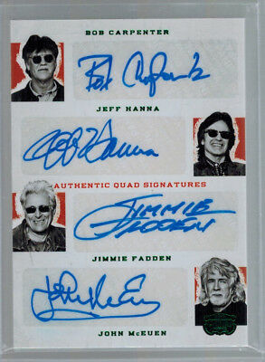 2014 Nitty Gritty Dirt Band Panini Country Quad Signature Auto Emerald #ed 25/25