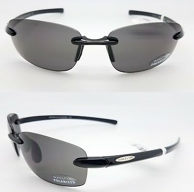 71c2856ec98 NEW Suncloud sunglasses Momentum Black Grey Polarized Unisex Medium fit  rimless