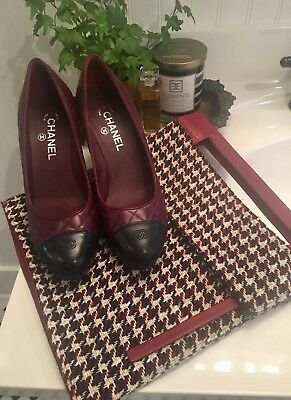 Lancel Leather Cut Out Handle Houndstooth Clutch~Vintage French~Made In Spain