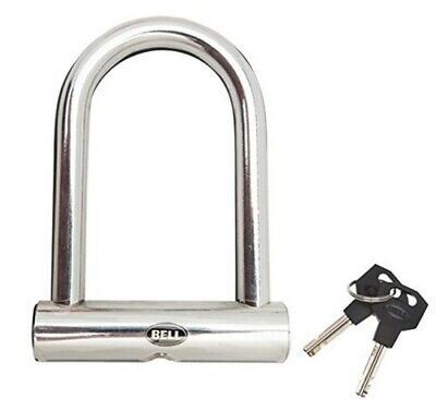 Bell Sports Steel Bicycle Mini Pocket Security U-Lock, Silver, 6.9x5x1.1 Inches