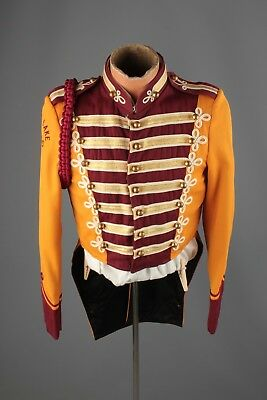 Vtg 60s Marching Band Sgt Peppers Uniform Jacket sz S 36 Brass Buttons #4490