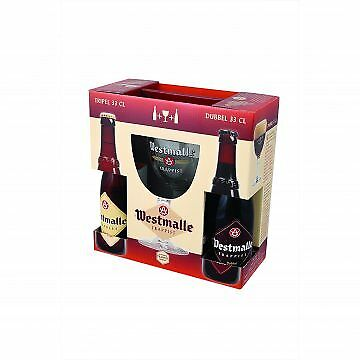 Westmalle Gift Pack with 2 x 330 ml beers and 1 Glass