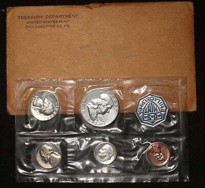 1962 SILVER PROOF SET (5 total coins)  (3 coins -  90% SILVER) LOT 200617