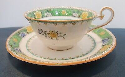 ANTIQUE ROYAL DOULTON Fine China Cup & Saucer England 9-16 Date Stamp See  Seal