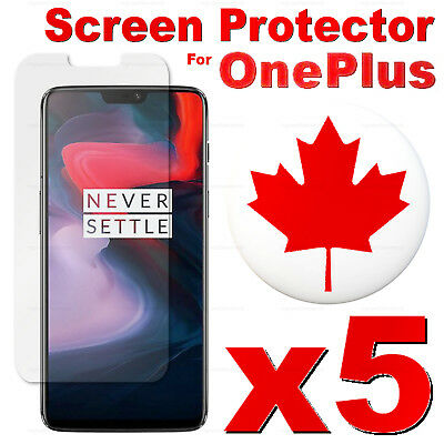 Premium Tempered Glass Screen Protector For OnePlus 6T 6 5T 3T 3 2 1 X (5 PACK)
