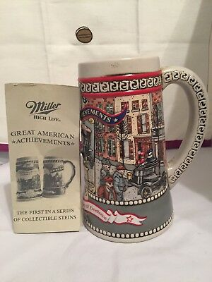 Miller High Life Great American Achievements Stein 1st in the series 1987