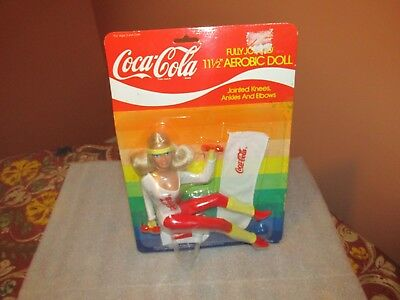 Vintage Coca-Cola Aerobic Doll 11 1/2 inch Collections No 4021 (from the 1980's)