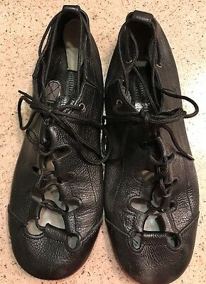 Black Upper Leather Dance Shoes Size 5M