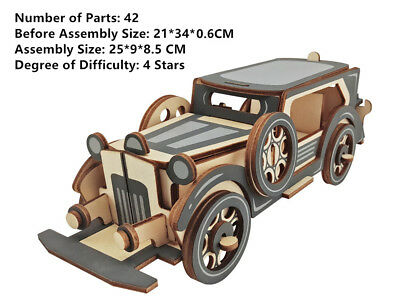 Puzzles & Geduldspiele New Assembly DIY Education Toy 3D Wooden Model Puzzles Ancient Chariots