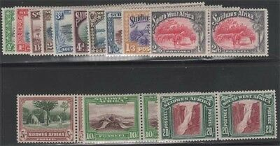 SOUTH-WEST AFRICA KGV 1931 Set of 12 Scott 108-120 SG74-85 Lightly Hinged