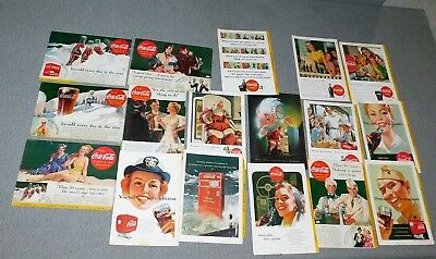 18 Vintage Back Cover Coca-Cola Ads from National Geographic Magazines 1930-40's