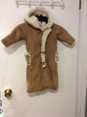 aceadd686 BABY GAP Girl Or Boy Faux Fur Sheepskin Lined Winter Snowsuit Bunting 3-6  Months