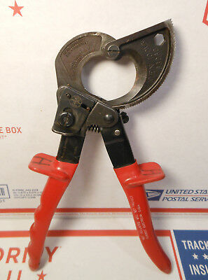 Klein Tools Germany 63060 Ratcheting Cable Cutters Heavy-Duty Red Handles