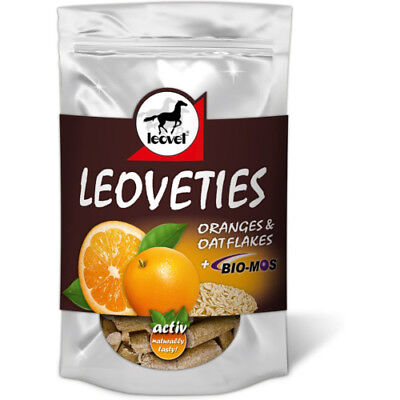 Leovet Leoveties Unisex Stable And Yard Horse Treats - Orange Oat Flakes