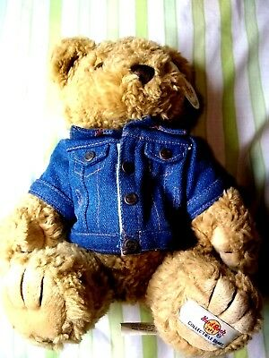 Hard Rock Cafe Orlando Collectible Bear with Denim Jacket New with Tag
