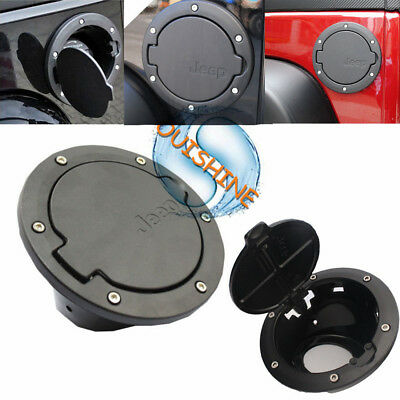 Fuel Filler Door Cover Gas Tank Cap for 07-17 Jeep Wrangler JK & Unlimited
