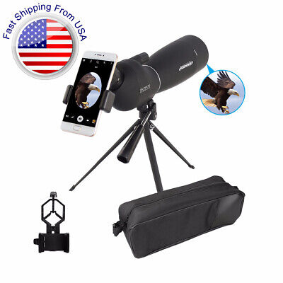25-75X70 Angled Spotting Scope Zoom Lens Waterproof With Tripod & Phone Adapter