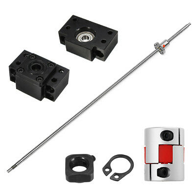 SFU1204 700mm Ball Screw w/ BK10 BF10 End Support and 6.35x10mm Coupler CNC Tool