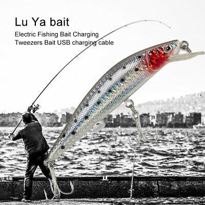 Electronic Twitching Fishing Lures Bait Light Buzzing Lure Fish USB Rechargeable