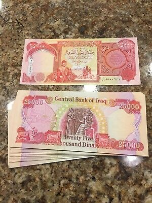 500,000 Iraqi Dinar (20) 25,000 Notes New Uncirculated Iqd!