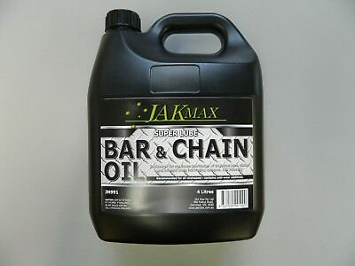 4 Litres Chainsaw Bar And Chain Oil Bottle Saw Lube Premium Quality
