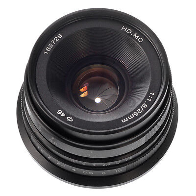 25mm F/1.8 Fixed Manual Focus Lens For Fujifilm X-mount X-A10 X-T20 X-A5 X-H1
