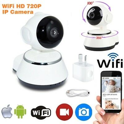 Wireless Wifi IP Security Camera 720P Indoor Home Surveillance System Monitor