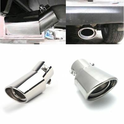 Universal Car Exhaust Tail Pipe Tip Muffler Vehicle Stainless Steel Chrome Trim