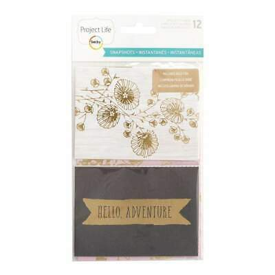 NEW Project Life Specialty Card Pack 12 pack Snapshots with Gold Foil