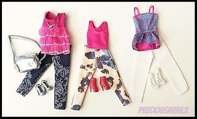 Barbie Doll Clothes - Set of 3 Outfits/Party/Evening/Outfit/Casual
