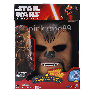 Star Wars The Force Awakens Chewbacca Electronic Mask Voice Gift Party Festival