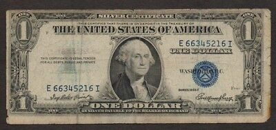 USA US Banknote - 1 Dollar Bill - 1935 E - Blue Seal - Silver Certificate