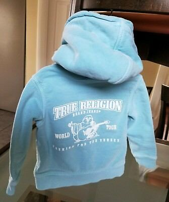 True Religion baby boys /girls hoodie Size 6-12 Months, Sky blue color