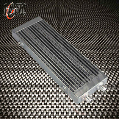 "Universal Dual Pass Bar & Plate Oil Cooler Medium - Silver Core:14""x5.5""x1.58"""