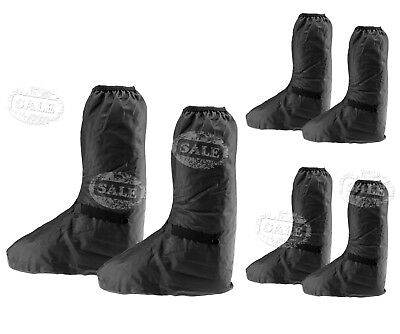 Black Waterproof Motorbike Shoe Boot Cover Motorcycle Rain Protect L/XL/XXL MM