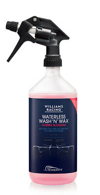 Pink Williams Racing Waterless Wash and Wax with Cherry blossom Fragrance 1L