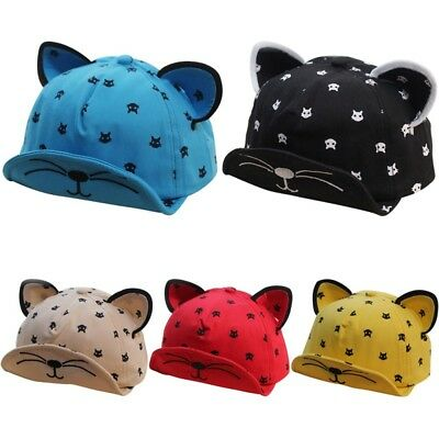 Summer Toddler Baby Boys Girls Cartoon Hat Peaked Baseball Cap Hip Hop Sun Hat