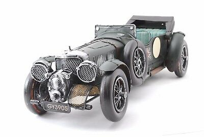 Vintage Bentley Tin Toy Car antique obje Green From Japan