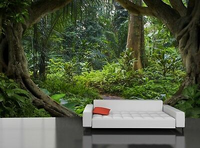 Asian Jungle   Photo Wallpaper Wall Mural DECOR Paper Poster  Free Paste