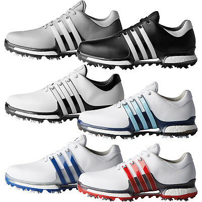 Adidas Golf Men's Tour 360 Boost 2.0 Waterproof Leather Golf Shoes - Wide Fit