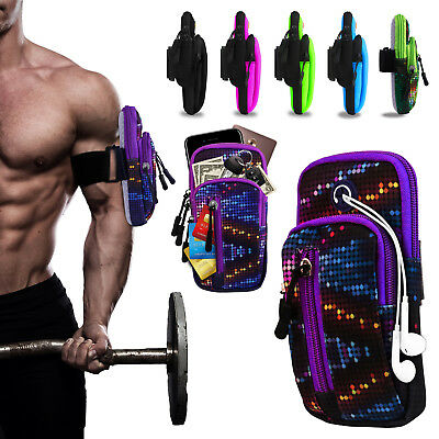 "Sports Running Jogging Gym Armband Pouch Bag Case Holder For Cell Phone ≦6.2"" US"