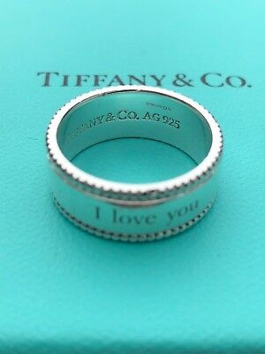 Tiffany Amp Co Sterling Silver 925 I Love You Beaded Edge