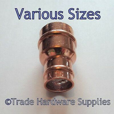 Solder Ring Pipe Reducer Coupling Copper Reducing Fitting 8mm,10mm,15mm,22mm....