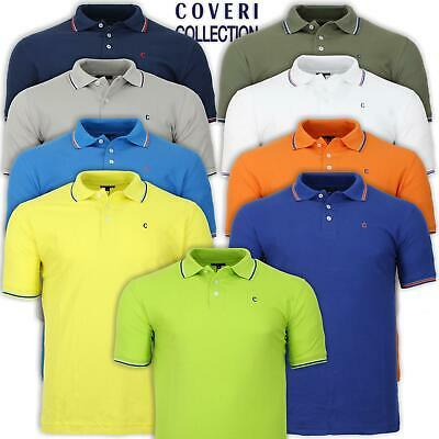 Polo Uomo Manica Corta 100% Cotone Piquet In 9 Colori COVERI COLLECTION