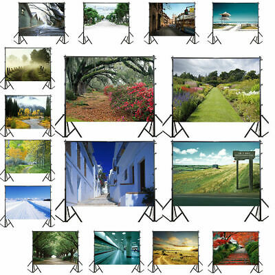 UK Road Trail Scenery Vinyl Photography Backdrop Background Studio Photo Props