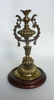 Very Pretty Edwardian Brass Ships Gimble Wall or Table Lamp